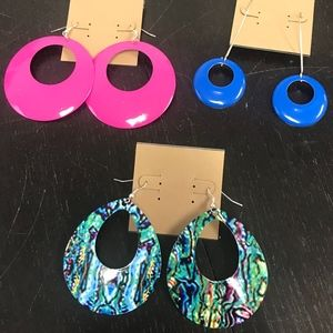 Jewelry - Set of 3 Funky Dangle Earrings